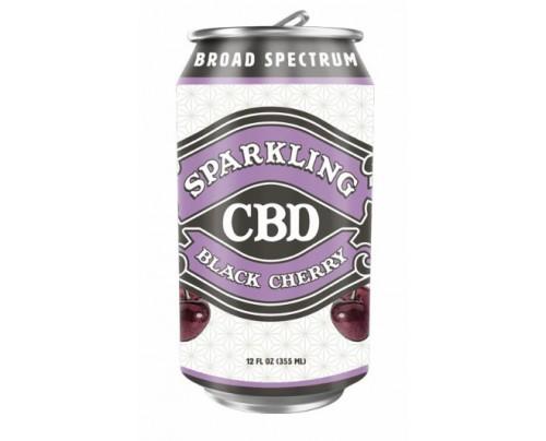 Sparkling CBD Soda Black Cherry Flavor Beverage