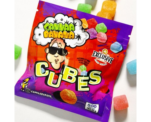 Delta 8 THC Candy - Cannaa Banana Gummy Cubes