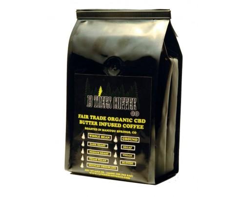 Ground CBD Coffee - 13 Trees Organic CBD Butter Infused Coffee