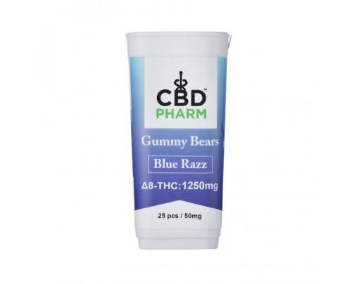 CBD Pharm Blue Razz Delta 8 THC Gummy Bears (1250mg)