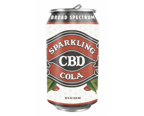 Sparkling CBD Soda Cola Flavor Beverage
