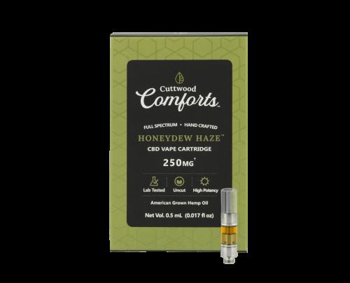 Cuttwood Comforts Honeydew Haze CBD Vape Cartridge