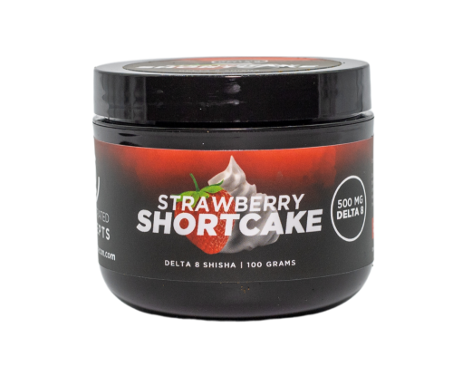 Delta-8 THC Hookah Shisha Strawberry Shortcake