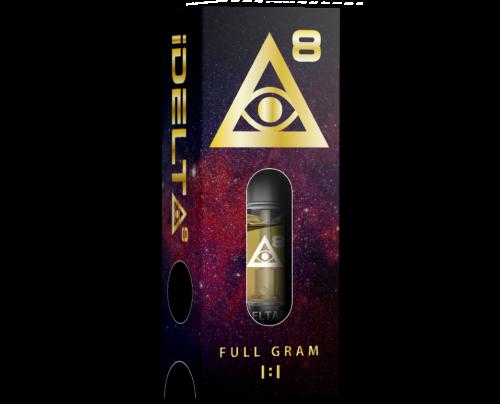 Delta 8 THC Carts by iDELTA8 Gold + CBD Full Gram 1:1 Ratio