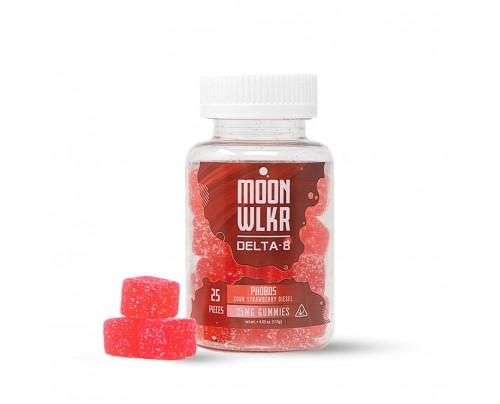 Moon-WLKR Sour Strawberry Delta-8 THC Gummies