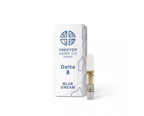 Treetop Hemp Co Blue Dream Delta 8 THC Cartridges - 1ml - 800mg - FREE Shipping