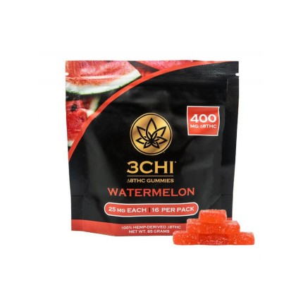 3CHI Delta-8 THC Gummies 400mg (16 Pieces) - Watermelon - FREE Shipping!