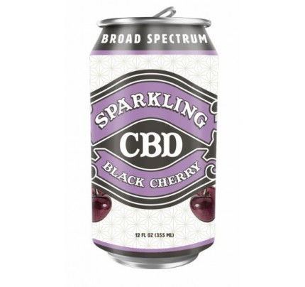 Sparkling CBD Soda Black Cherry Flavor Beverage