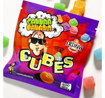 Delta-8 THC Candy | Cannaa Banana Gummy Cubes - 500mg - FREE Shipping!