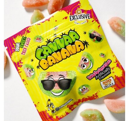 Cannaa Banana Watermelon Delta 8 THC Gummies - 500mg - FREE Shipping!