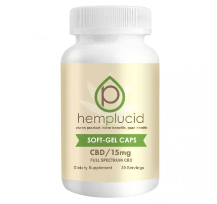 HempLucid Full-Spectrum Hemp-Derived CBD Soft Gel Capsules
