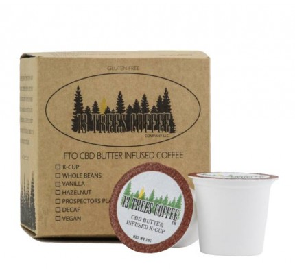 CBD Coffee K-Cup Pods - 13 Trees Organic CBD Butter Infused K-Cup Coffee