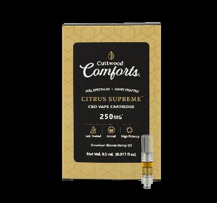 Cuttwood Comforts Citrus Supreme CBD Vape Cartridge