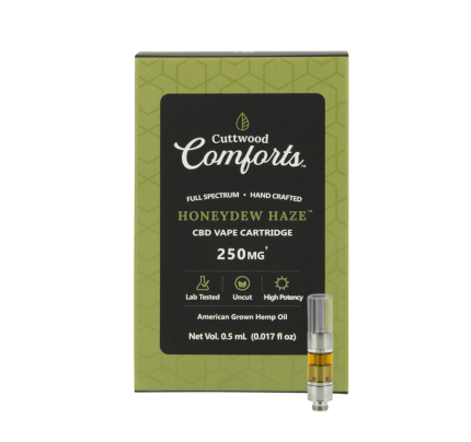Cuttwood Comforts Honeydew Haze CBD Vape Cartridge