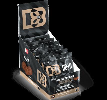 D8-HI Delta-8 Cookies - Chocolate | Full Carton - FREE Shipping!