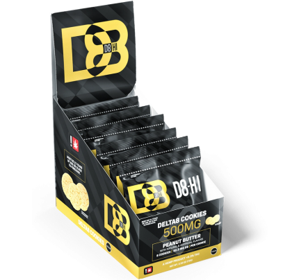 D8-HI Delta 8 THC Cookies - Peanut Butter   Full Carton - FREE Shipping!
