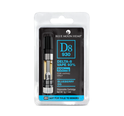 Blueberry OG Delta 8 Vape Cartridge 930mg | Blue Moon Hemp - FREE Shipping
