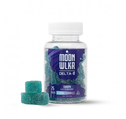 Delta-8 THC Gummies | MoonWLKR Europa Blue Dream Berry - FREE Shipping!