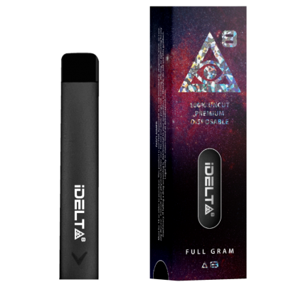 iDELTA8 Diamond – Disposable Pure Delta-8 THC Full Gram Vape Pen