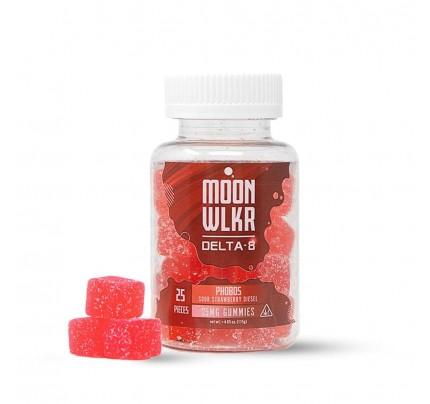 MoonWLKR Delta-8 THC Gummies | Sour Strawberry Diesel - FREE Shipping!