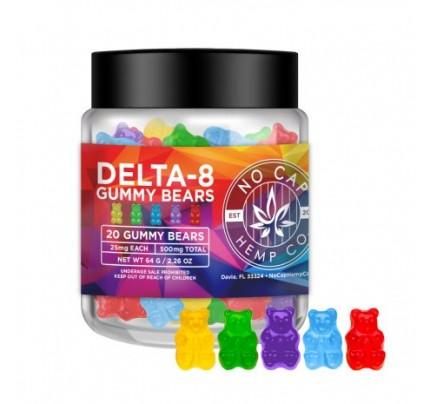 No Cap Hemp Co - Delta 8 THC Gummy Bears - 500mg - FREE Shipping!