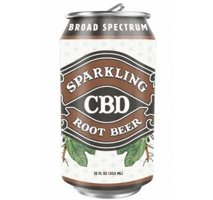 Sparkling CBD Soda Root Beer Flavor Beverage