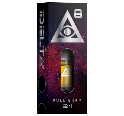 Delta 8 THC Cartridge Silver by iDELTA8 + CBD - Full Gram 2:1 Ratio