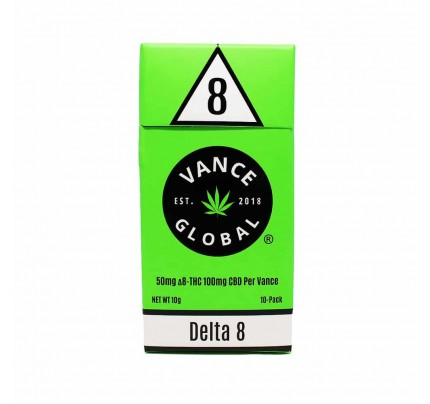 Vance Global DELTA 8 Cigarettes - FREE Shipping! - 10 Pack