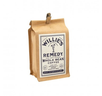 Willie Nelson's Willie's Remedy CBD Coffee Beans - 8oz Whole Bean Regular Strength Coffee 113MG CBD