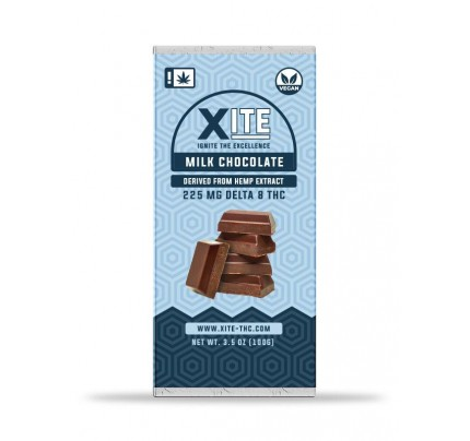 XITE Delta 8 THC Milk Chocolate Bar | Patsy's Hemp - FREE Shipping!